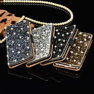 Luxury Shiny Diamond Full PU Leather Case Cover With Safe Buckle Cell Phone Bling Case For iPhone 5/5S (Assorted Color)
