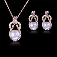 Damen Schmuckset Modisch Modeschmuck Perle Diamantimitate Ohrringe Halskette Für Party Besondere Anlässe Geburtstag Hochzeitsgeschenke