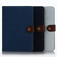 For Samsung Galaxy Case Wallet / Card Holder / with Stand / Flip Case Full Body Case Solid Color Textile SamsungTab 4 10.1 / Tab 4 8.0 /