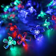 konge ro 30led blomstre batteri førte streng lys udendørs vandtæt string lys (kl0017-rgb, hvid, varm hvid)