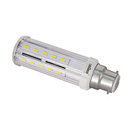 LEDUN  1PCS B22/E26/E27/E14  10 W 32 SMD 5730 100LM LM Warm White / Natural White T Decorative Corn Bulbs AC 85-265