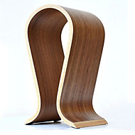 Hot Sale Fashionable Wooden Omega U-Shaped Headphone Display Stand Headphones Holder