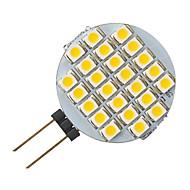 g4 1.5w 24 LED 3528 ampoule forme blanche ronde animée
