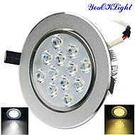 Plafonniers 12 LED Haute Puissance 1200 lm Blanc Chaud / Blanc Froid Gradable / Décorative AC 110-130 / AC 100-240 V 1 pièce