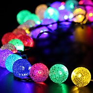 King Ro 40LED Crystal Ball Battery String Lights For Outdoor, Gardens, Homes, Wedding, Christmas Party, Waterproof