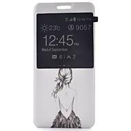 Για Samsung Galaxy Θήκη με βάση στήριξης / με παράθυρο / Ανοιγόμενη / Με σχέδια tok Πλήρης κάλυψη tok Σέξι κυρία Συνθετικό δέρμα Samsung
