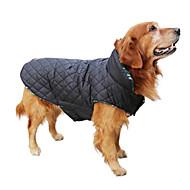 犬用品 コート / ジャケット / ベスト レッド / グリーン / ブラウン / ベージュ 犬用ウェア 冬 格子柄 保温 / リバーシブル