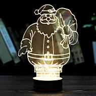 視覚的な3Dリボンモデル気分雰囲気が装飾のUSBを率いテーブルランプカラフルなギフトの夜の光(アソートカラー)