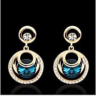 Kolczyki wiszące Cyrkonia Kamienie zodiakalne Cyrkon Cyrkonia Golden Biżuteria Na Ślub Impreza 1set