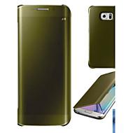 Για Επιμεταλλωμένη / Καθρέφτης / Ανοιγόμενη / Διαφανής tok Πλήρης κάλυψη tok Μονόχρωμη Σκληρή PC Samsung S6 edge plus / S6 edge / S6