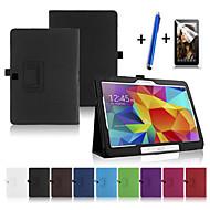 Pour Avec Support Veille/Déverrouillage Automatique Clapet Coque Coque Intégrale Coque Couleur Pleine Dur Cuir PU pour Samsung Tab 4 10.1