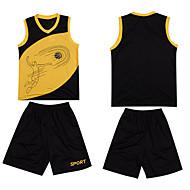 Hauts/Tops / Bas / Shirt ( Jaune / Blanc / Rouge / Bleu ) - Fitness / Basket-ball - Sans manche - Homme
