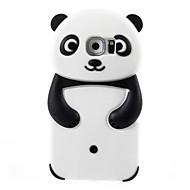 2016 3D-cartoon dieren schattige panda zachte siliconen case voor Galaxy s6 / S5 / s4 / s3