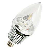 5W E12 LED Candle Lights T 3 SMD 400-500 lm Warm White AC 220-240 V 1 pcs