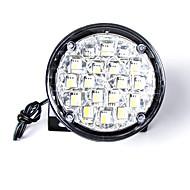 carking ™ universal estilo rodada diurna carro drl 18 levou correndo luz / nevoeiro luz light-branco (2pcs)