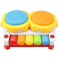 luce tamburo mano giocattolo di plastica colorata multifunzionale di musica