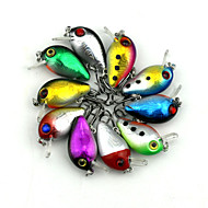 "Manivela 10pcs pcs,1.5g g/1/18 Onza,30 mm/1-1/4"" pulgada Colores Aleatorios Plástico duroPesca al spinning / Pesca de agua dulce / Otros"