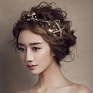 χρυσό Seafish headband μέτωπο μαλλιά κοσμήματα των γυναικών για το κόμμα του γάμου
