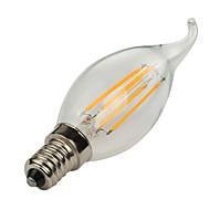 1 stk. HRY E14 4W 4 Højeffekts-LED 400 lm Varm hvid / Kold hvid CA35 edison Vintage LED-glødetrådspærer AC 85-265 V