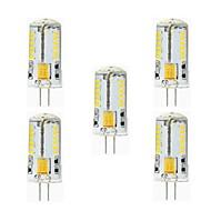 5 kpl NO G9 / G4 3W 57 SMD 3014 260 lm Lämmin valkoinen / Kylmä valkoinen T Vedenkestävä LED Bi-Pin lamput AC 12 V