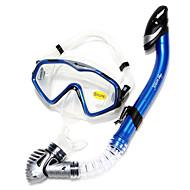 Snorkelpakker Snorkler Dykkermasker Svømmebriller Snorkelsett Tørrdrakt - topp Dykking og snorkling Svømming Silikon-WAVE