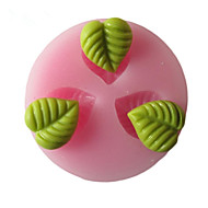 Three Holes Leaf Leaves Silicone Mold Fondant Molds Sugar Craft Tools Resin flowers Mould  For Cakes