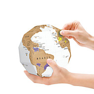 GeekFun Scratch Map Globe 3D Puzzles