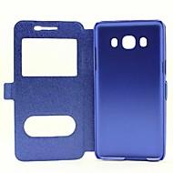 Mert Samsung Galaxy tok Állvánnyal / Betekintő ablakkal / Flip Case Teljes védelem Case Egyszínű Műbőr Samsung J5 (2016)