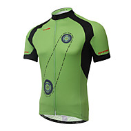 XINTOWN Cykling Toppe / Trøje Herre Cykel Åndbart / Ultraviolet Resistent / Hurtigtørrende / Begrænser bakterier Kort Ærme Strækkende