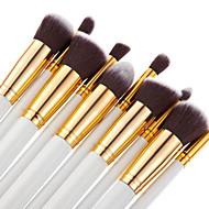 Set de 10 Piezas de Pinceles Profesionales de Maquillaje