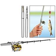 Camping portable Pen Travel Fishing Rod Pole Reel Mini