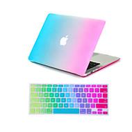 """2 în 1 curcubeu colorat caz corp plin + capac tastatură pentru macbook aer 11 """"pro 13"""" / 15 """""""