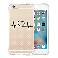 Til Etui iPhone 6 Etui iPhone 6 Plus Gjennomsiktig Mønster Etui Bakdeksel Etui Tegneserie Myk Silikon tiliPhone 6s Plus/6 Plus iPhone