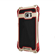 R-Just Aluminum Carbon Fiber Metal Case Cover Armor Gorilla Glass Shock Dust Proof for Samsung Galaxy  S7 edge/S7
