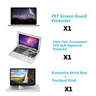 """protection garde claire de l'écran + mince couvercle du clavier + reste métallique et membrane du panneau tactile pour 13.3 """"/15.4"""""""