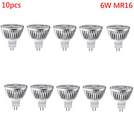 10pcs HRY® 6W MR16 500LM Warm/Cool Light Lamp LED Spot Lights(12V)