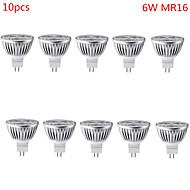 6W GU5.3(MR16) תאורת ספוט לד MR16 3 לד בכוח גבוה 500 lm לבן חם / לבן קר דקורטיבי DC 12 V עשרה חלקים