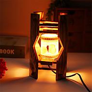 oszczędny drewnie muszle cylindryczny pojemnik dekoracja lampy lampy Lampa biurkowa sypialnia prezent dla dziecka