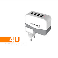 confulon @ C21 UE / USA spina 4PORT usb presa di ricarica AC100 ~ 240V 5v alimentatore 4.2a per iphone / ipad / scheda sam / Android