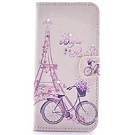 For Samsung Galaxy Case Card Holder / Rhinestone / with Stand / Flip / Pattern / Magnetic Case Full Body Case Eiffel Tower PU Leather