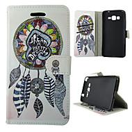 For Samsung Galaxy etui Pung / Kortholder / Med stativ / Flip Etui Heldækkende Etui Drømmefanger Kunstlæder SamsungTrend Duos / J5 / J1 /