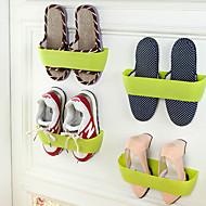 Simple Double Plastic Shoe Rack Shoe Rack