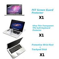 """beskyttende klar skjerm vakt + tynn tpu tastaturet dekselet + metall hvile og berøringspanel membran for 13,3 """"/15.4"""" macbook pro"""