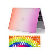 """2 en 1 caso de arco iris todo el cuerpo de plástico de colores + cubierta del teclado para MacBook Air 11 """"/ 13"""""""