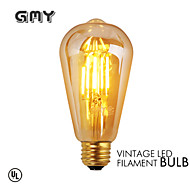 1 Stück GMY E26/E27 3W 4 COB ≥330 lm Warmes Weiß ST64 edison Vintage LED Glühlampen AC 220-240 V