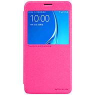 Για Samsung Galaxy Θήκη με παράθυρο / Ανοιγόμενη tok Πλήρης κάλυψη tok Λάμψη γκλίτερ Συνθετικό δέρμα για Samsung J7 (2016) / J3 Pro