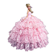 Barbie Doll Candy Girl Light Pink Lace Princess Dress