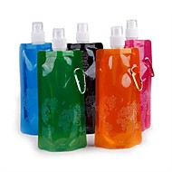 Deportes botella de agua plegable (color al azar)