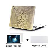 caja de cuerpo completo dura grano de madera de diseño mate con la cubierta del teclado y protector de pantalla para el MacBook Pro de 13