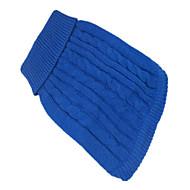 개 스웨터 그린 / 블루 / 핑크 강아지 의류 겨울 솔리드